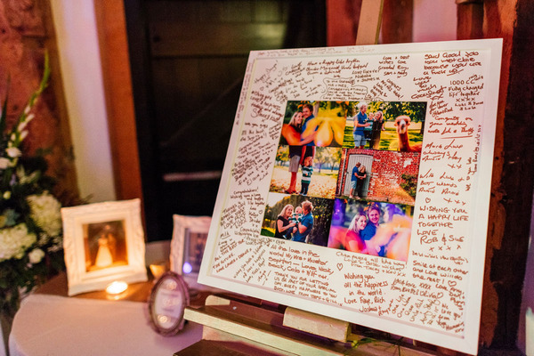 Frames photo wedding guest book
