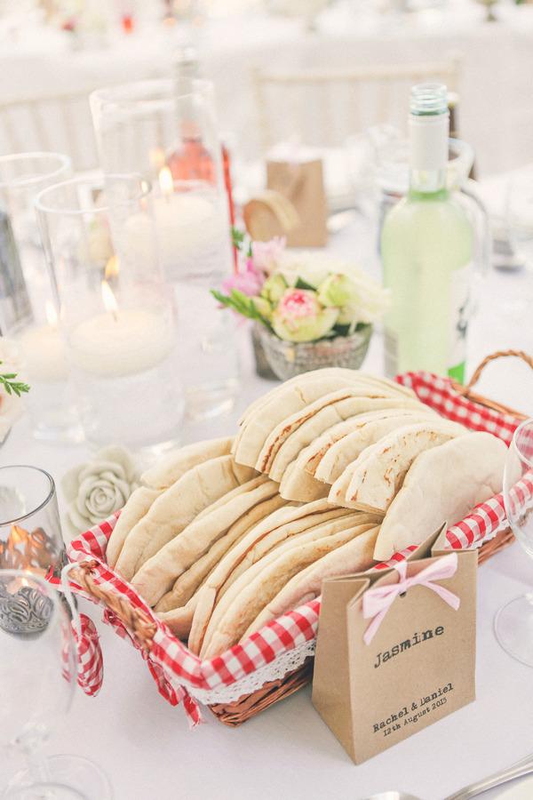Basket of pitta bread