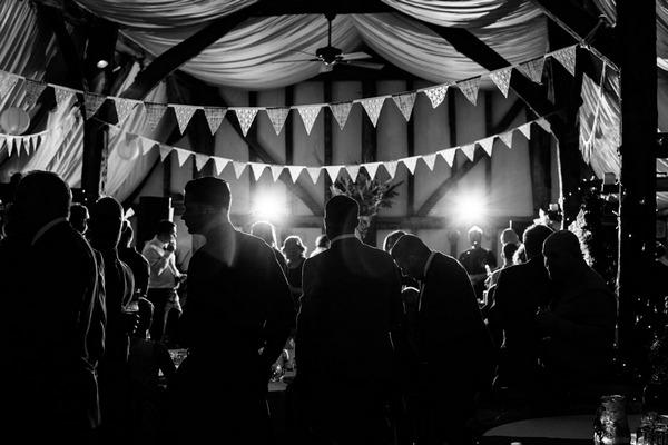 Bunting in South Farm, Royston for wedding reception