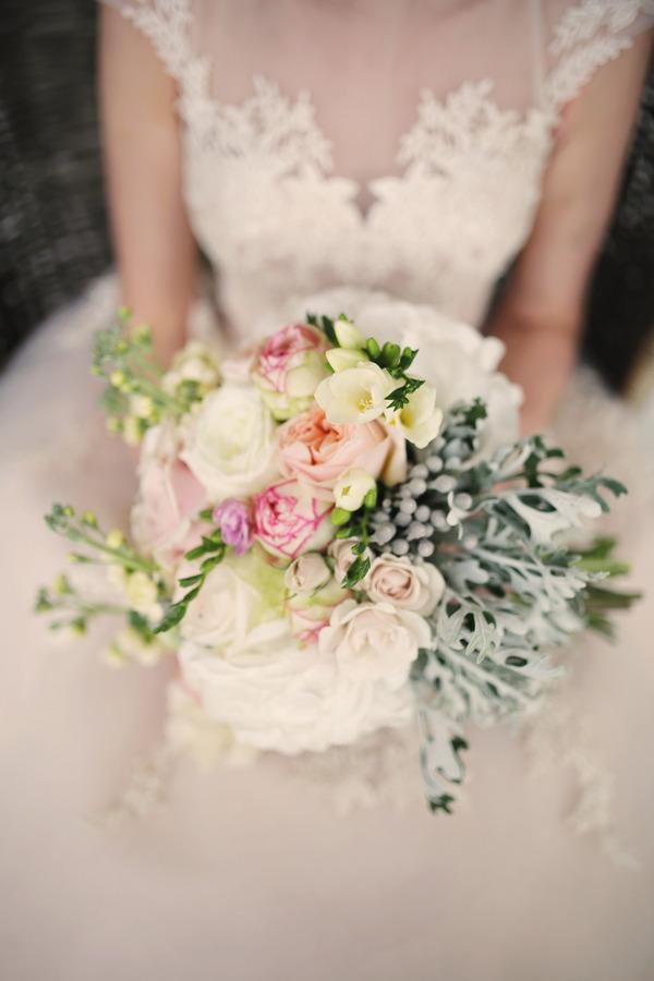Bride's pretty blush bouquet