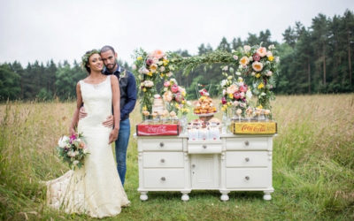 Rustic Meadow Wedding Styling with Sweet treats
