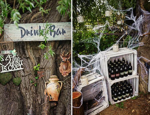 Fantasy wedding drinks bar
