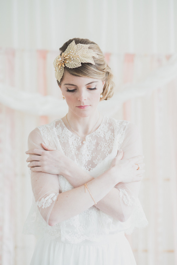 Bride with arms crossed