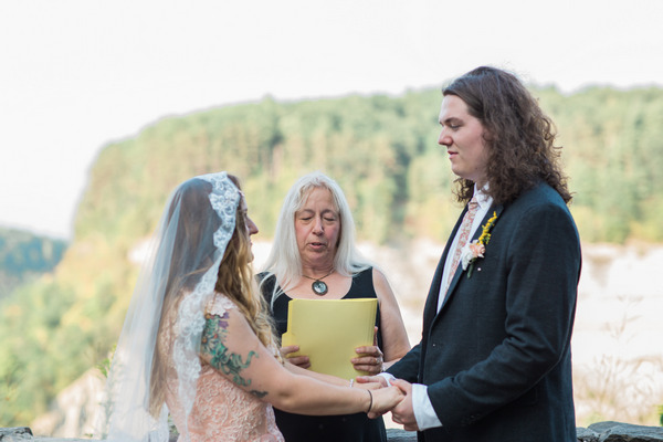 Wedding ceremony at Letchworth State Park