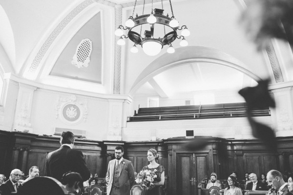 Wedding ceremony in Islington Town Hall