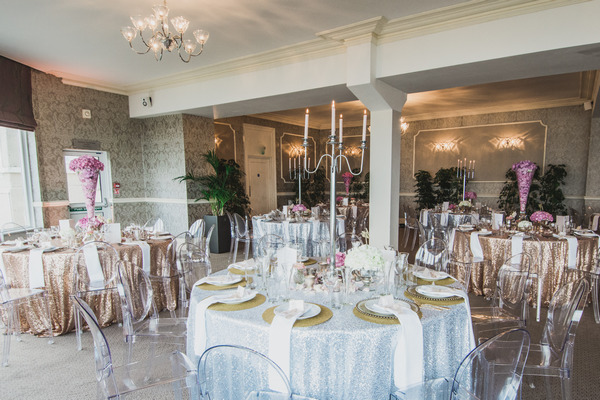 Wedding tables in St Ives Harbour Hotel