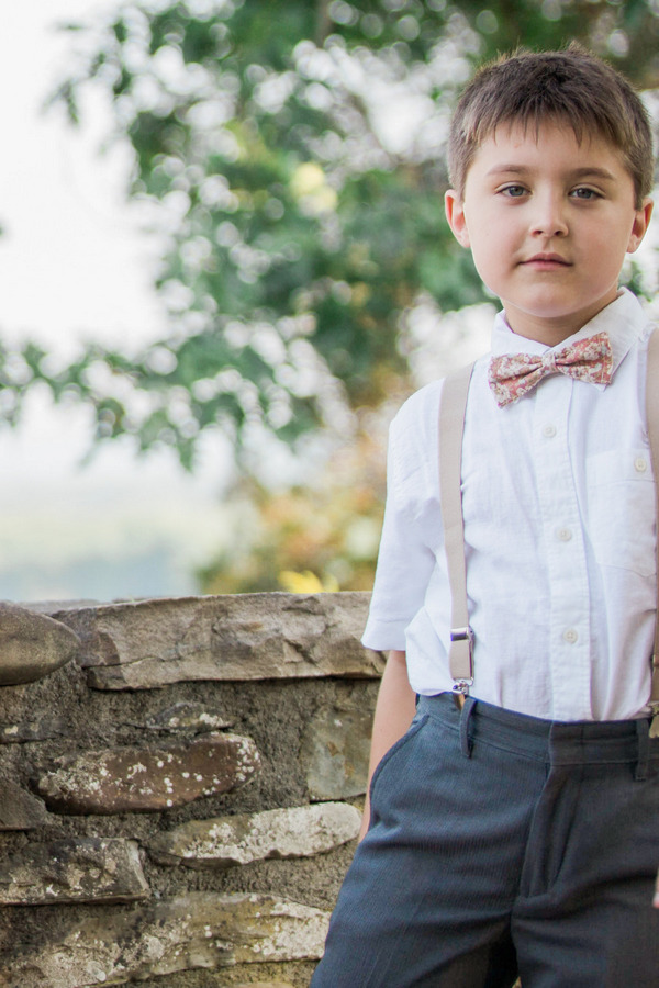 Pageboy with braces and bow tie