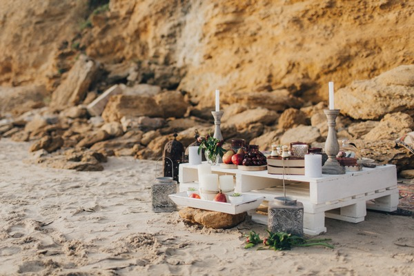 Wedding table made from pallets