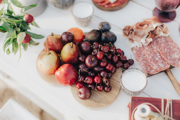 Fruit on wedding table