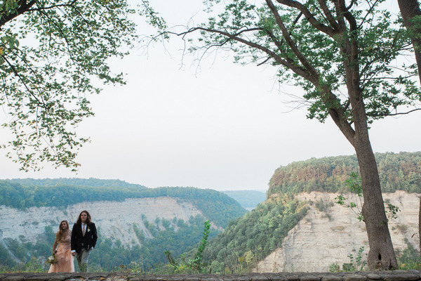 Bride and groom at Letchworth State Park