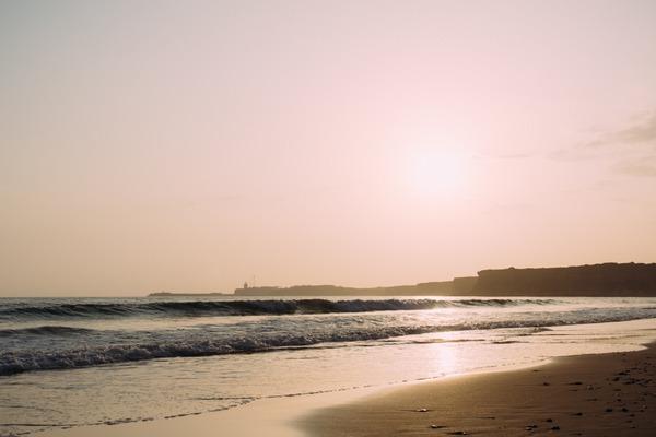 Sea from beach in Spain