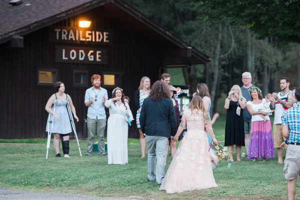 Wedding party at Trailside Lodge, Letchworth State Park