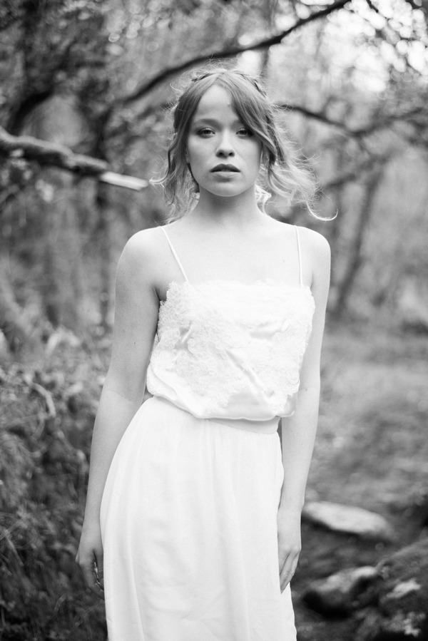 Bride in woods