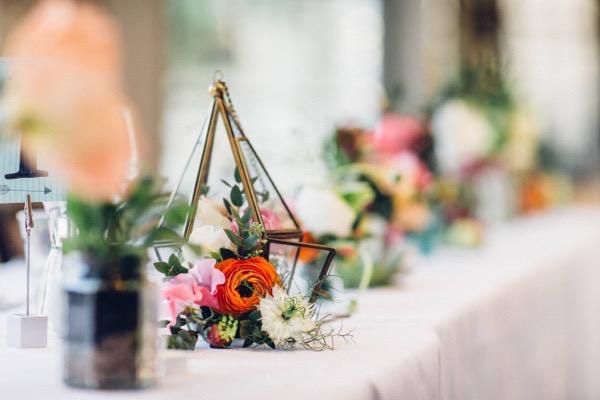 Lantern on wedding table