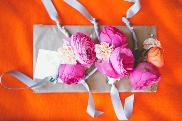 Pink corsages
