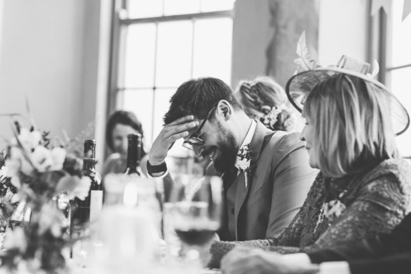 Groom embarrassed by wedding speech