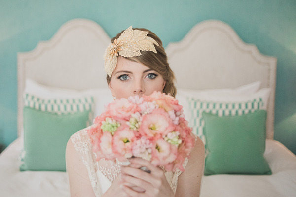 Sophisticated Pink and Metallic Wedding Styling