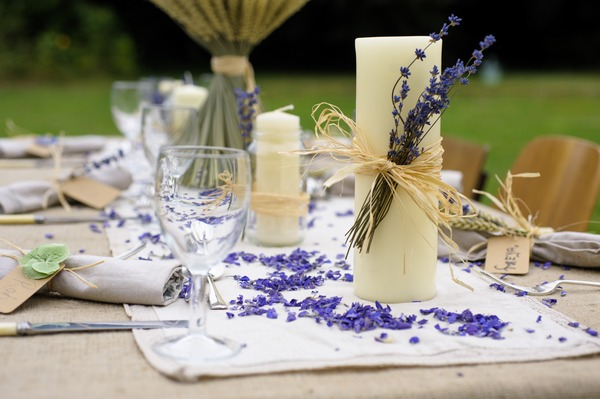 Lavender wedding table decoration