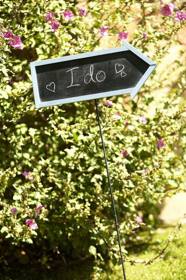 I Do chalkboard arrow sign