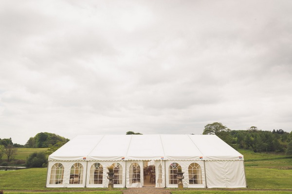 Marquee in grounds of Buckland House in Devon