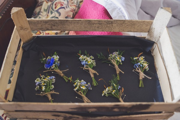 Crate of buttonholes