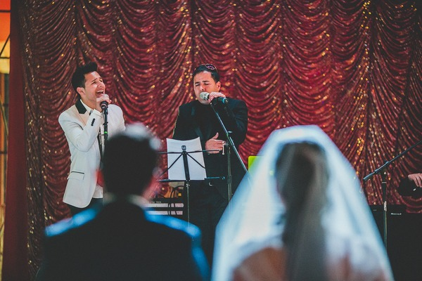 Singing during wedding ceremony in circus