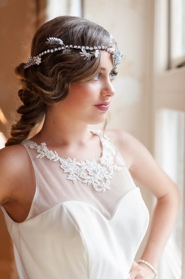 Bride with boho headband