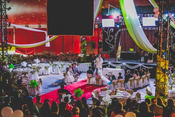 Wedding at Tony Caluga Circus