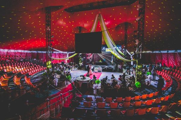 Wedding in Tony Caluga Circus tent
