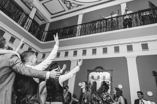 Wedding party in Buckland House