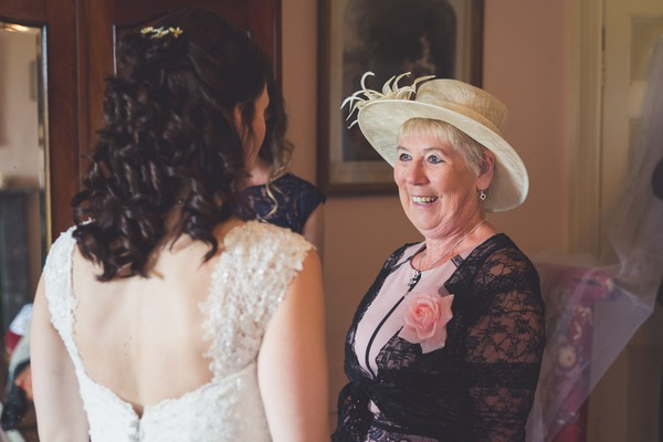 Bride with lady in hat