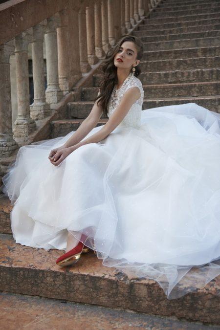 Emelia Wedding Dress with Flavia Shrug - Stephanie Allin Bellissimo 2017 Bridal Collection