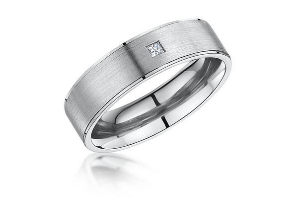Laings Palladium 6mm Diamond Wedding Ring