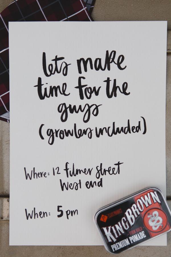 Gents shoot invitation
