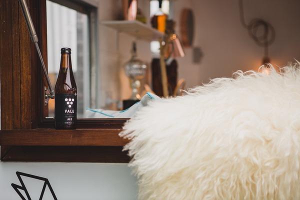 Bottle of beer on bar