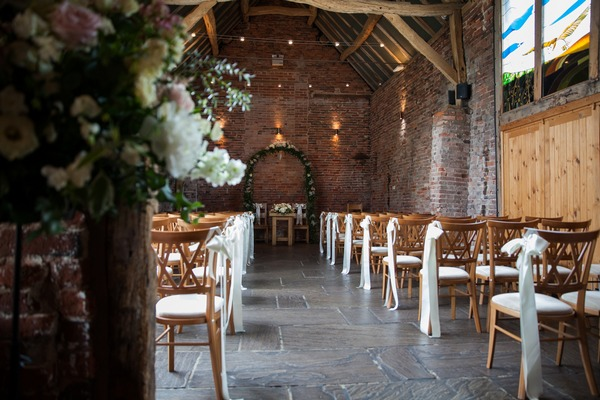 Wedding ceremony seating at Packington Moor
