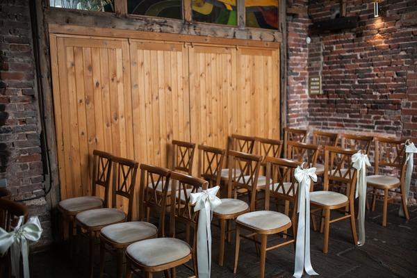Ceremony seats for Packington Moor wedding