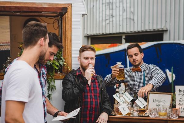 Men whisky tasting