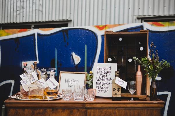 Whisky bar on dresser