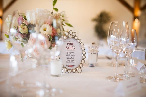 Photo frame for wedding table name