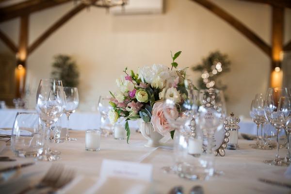 Pretty wedding table display