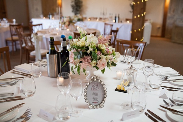 Pretty wedding table at Packington Moor