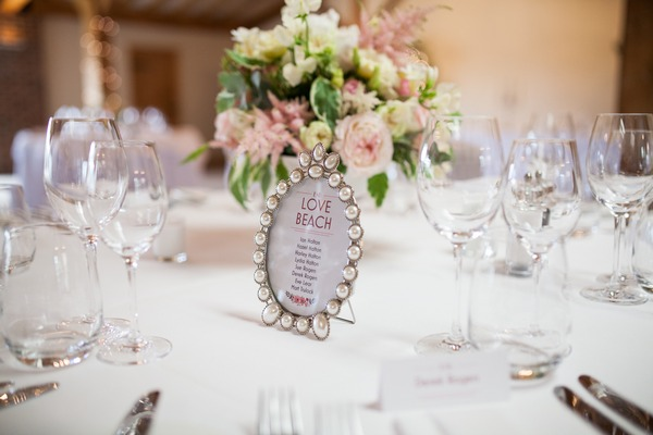 Photo frame wedding table name