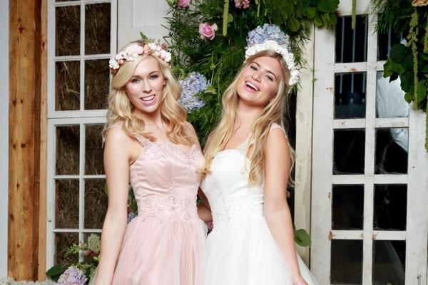 Amanda Wyatt She Walks with Beauty 2017 - Mistie wedding dress in Mocha Pink and Ivory