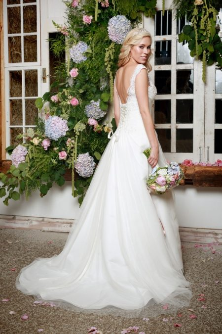 Back of Bryn Wedding Dress - Amanda Wyatt She Walks with Beauty 2017 Bridal Collection