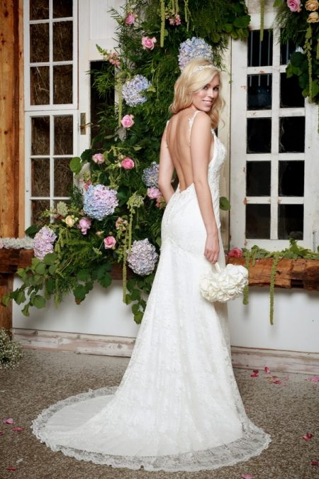 Back of Claire Wedding Dress - Amanda Wyatt She Walks with Beauty 2017 Bridal Collection