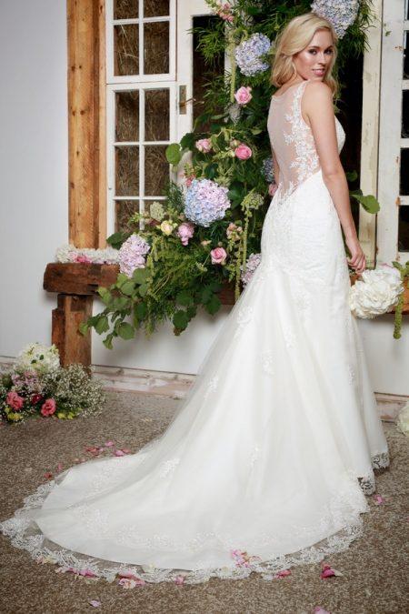 Back of Elenor Wedding Dress - Amanda Wyatt She Walks with Beauty 2017 Bridal Collection