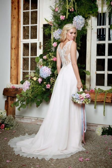 Back of Lettie Wedding Dress in Blush - Amanda Wyatt She Walks with Beauty 2017 Bridal Collection