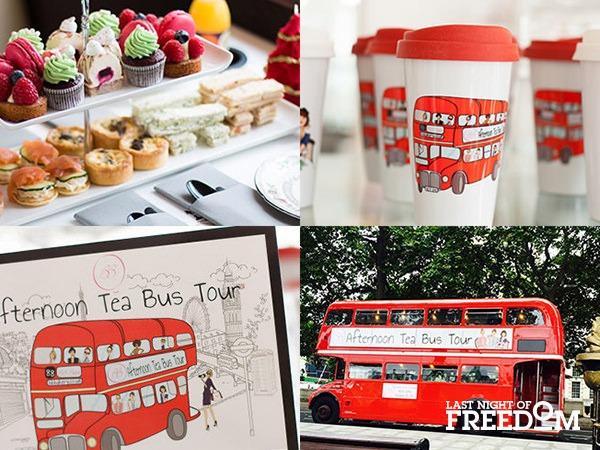 London Bus Afternoon Tea Tour London Hen Party Activity