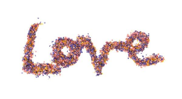 Love Spelt in Confetti - Fun Ways to Display Confetti